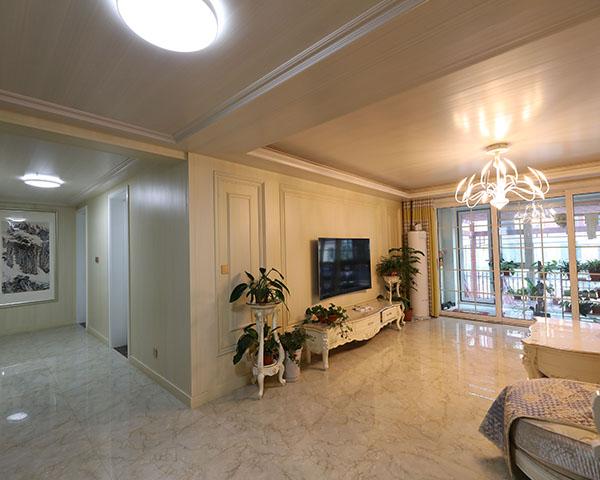 莱茵名都一楼客厅整装效果